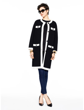 Head In The Clouds Colorblock Scuba Coat by Kate Spade
