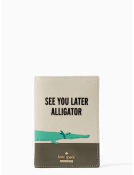 Swamped Alligator Passport Holder by Kate Spade