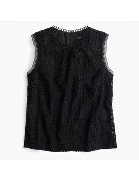 Petite Mixed Lace Top by J.Crew