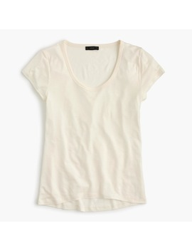 Scoopneck Tencel ™ T Shirt by J.Crew