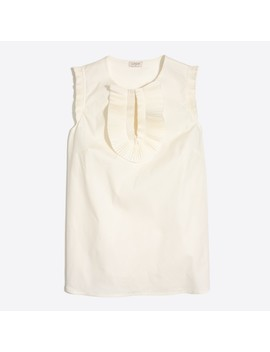 End On End Ruffle Front Shell by J.Crew