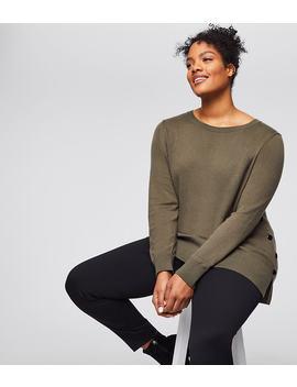 Loft Plus Side Button Tunic Sweater by Loft
