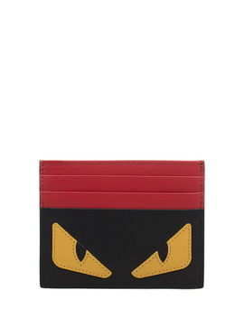 Fendi Men's  Black Leather Card Holder by Fendi