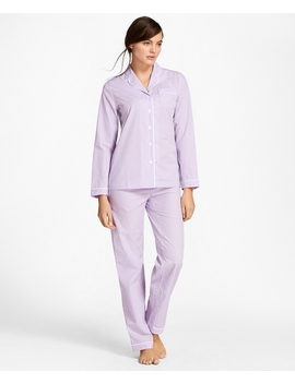 Gingham Cotton Poplin Pajama Set by Brooks Brothers