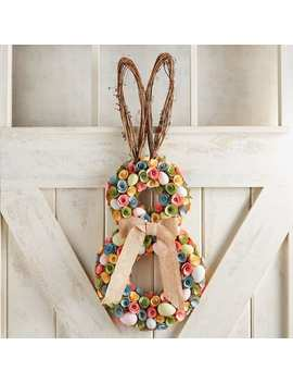 Pastel Wood Curl Rabbit Wreath by Pier1 Imports