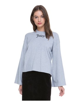 Small Gothic Logo Split Sleeve Sweater by Juicy Couture