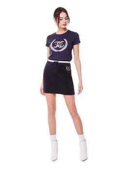 Velour Legacy Wreath Tennis Skirt by Juicy Couture