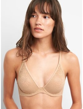Bare Natural Plunge Lace Bra by Gap