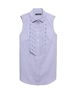 Riley Fit Scallop Front Sleeveless Shirt by Banana Repbulic