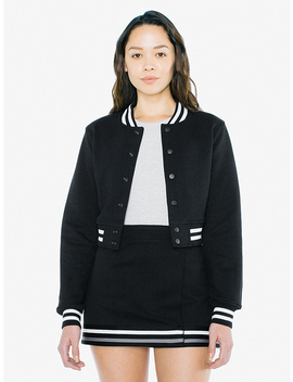 Heavy Terry Cropped Club Jacket by American Apparel