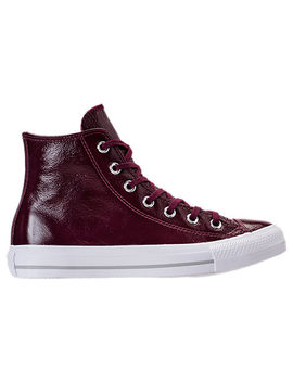 Women's Converse Chuck Taylor Hi Patent Casual Shoes by Converse