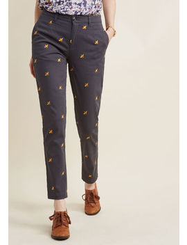 Legendary Lifestyle Pants In Grey Bee In S Legendary Lifestyle Pants In Grey Bee In S by Modcloth