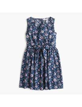 Girls' Tie Waist Dress In Floral by J.Crew