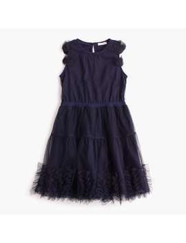 Girls' Embellished Tulle Dress by J.Crew