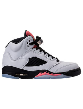 Girls' Grade School Air Jordan Retro 5 (3.5y 9.5y) Basketball Shoes by Nike