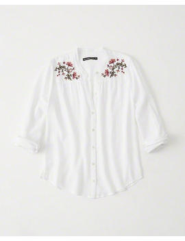Mandarin Collar Button Up Shirt by Abercrombie & Fitch