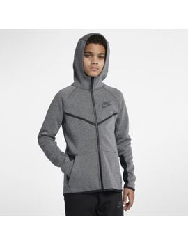 Nike Sportswear Tech Fleece Windrunner Older Kids' (Boys') Full Zip Hoodie. Nike.Com Gb by Nike