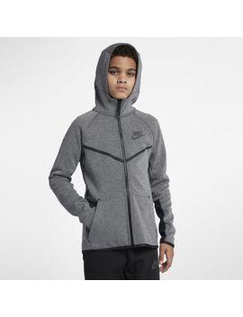 Nike Sportswear Tech Fleece Windrunner Older Kids' (Boys') Full Zip Hoodie. Nike.Com Gb by Nike