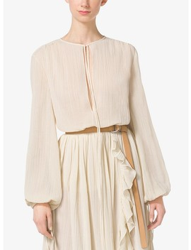 Cotton Crépon Blouse by Michael Kors Collection