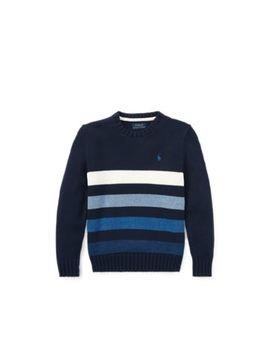 Striped Cotton Sweater by Ralph Lauren