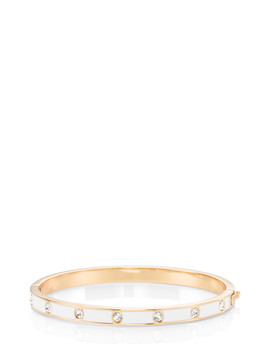 Set In Stone Enamel Stone Hinged Bangle by Kate Spade