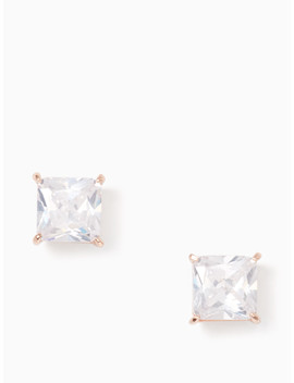 Save The Date Princess Cut Studs by Kate Spade