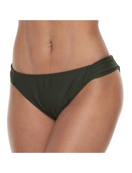 Mix And Match Shirred Hipster Bikini Bottoms by Kohl's