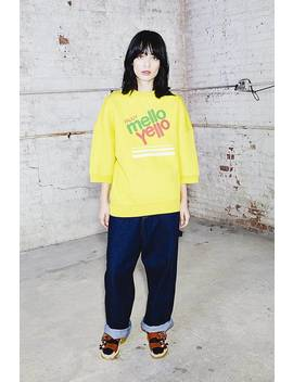Mello Yello Short Sleeve Sweatshirt by Marc Jacobs