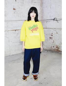 Mello Yello Short Sleeve Sweatshirt by Marc Jacobs
