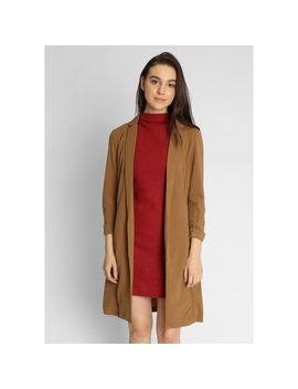 Long Blazer In Brown by Wet Seal
