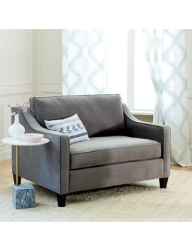 Paidge Chair And A Half Twin Sleeper by West Elm