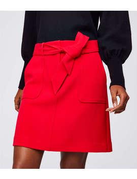 Tie Waist Pocket Skirt by Loft