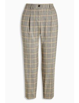 Ochre Check Taper Trousers by Next