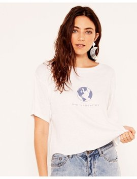 Peace To Your Mother Crop Top by Glassons