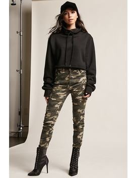 High Rise Camo Trousers by F21 Contemporary