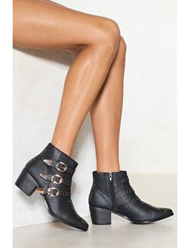 Gone For Stud Vegan Leather Boot by Nasty Gal