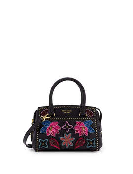 West 57th Floral Applique Mini Carryall Satchel West 57th Floral Applique Mini Carryall Satchel by Henri Bendel