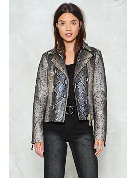 Wild And Free Snake Moto Jacket by Nasty Gal