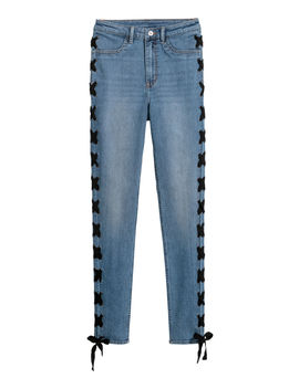 Jeans With Lacing by H&M