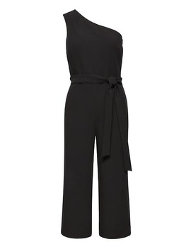 Cropped One Shoulder Jumpsuit by Banana Repbulic