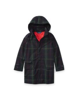 Plaid Cotton Raincoat by Ralph Lauren