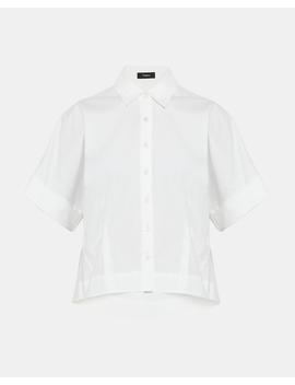 Stretch Cotton Cropped Shirt by Theory