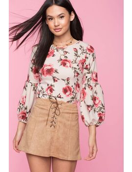 Grow Away Floral Blouse by A'gaci