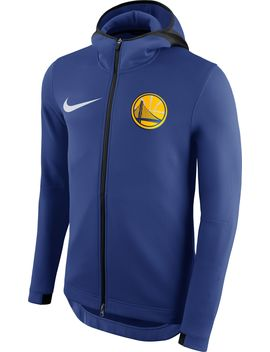 Nike Men's Golden State Warriors On Court Royal Therma Flex Showtime Full Zip Hoodie by Nike
