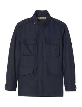 Water Repellent Four Pocket Jacket by Banana Repbulic
