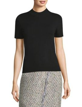 Mockneck Short Sleeve Top by Milly