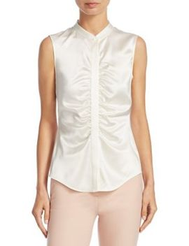 Ruched Silk Top by Theory