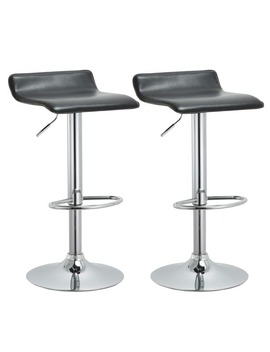 Modern Adjustable Bar Stools (Set Of 2) by Generic