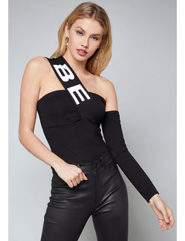 Logo One Sleeve Top by Bebe