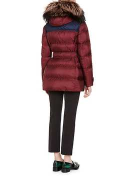 Fur Trimmed Quilted Belted Coat by Prada
